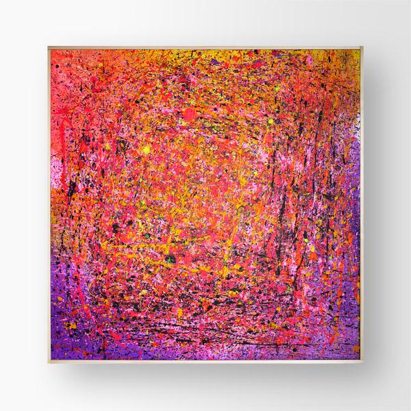 Tableau contemporain abstrait coloré Another Galaxy