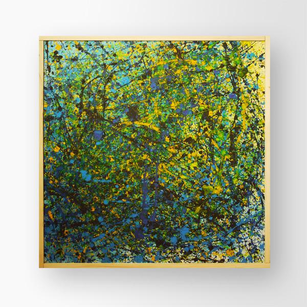Tableau contemporain abstrait coloré Kev Explosion