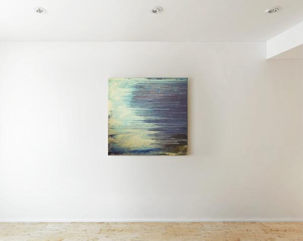 Tableau contemporain abstrait coloré Waves