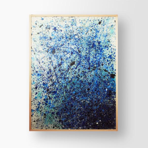 Tableau contemporain abstrait coloré Rainy Sky