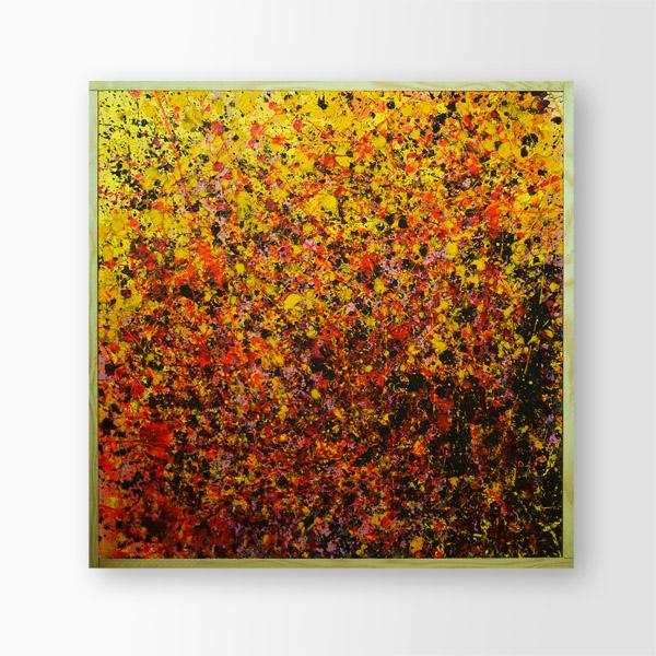 Tableau contemporain abstrait coloré Blood Galaxy