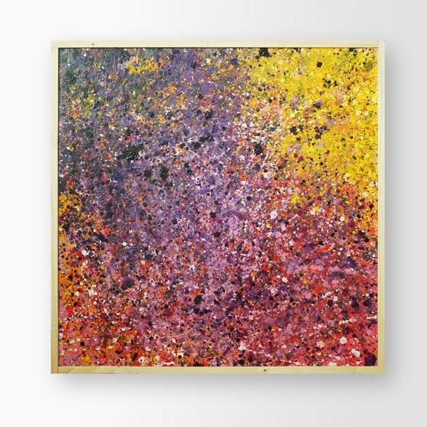 Tableau contemporain abstrait coloré Kev Galaxy