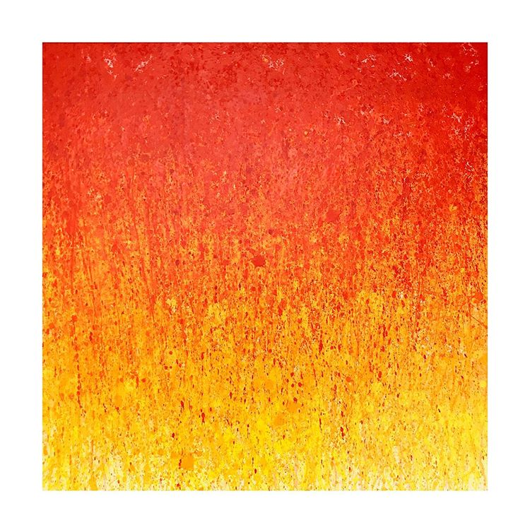 Tableau contemporain abstrait coloré New Born