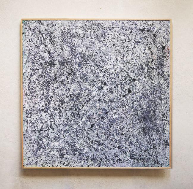 Tableau contemporain abstrait coloré Oil Explosion