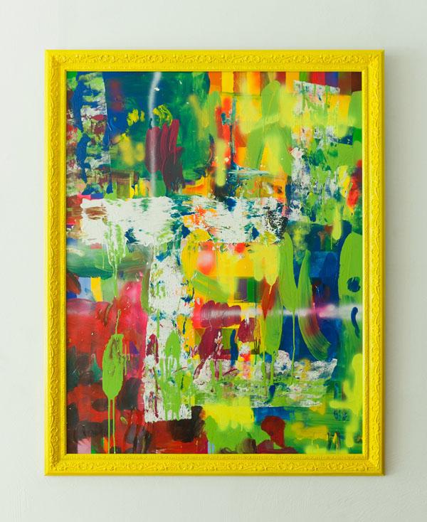Tableau contemporain abstrait coloré Fruity Funky