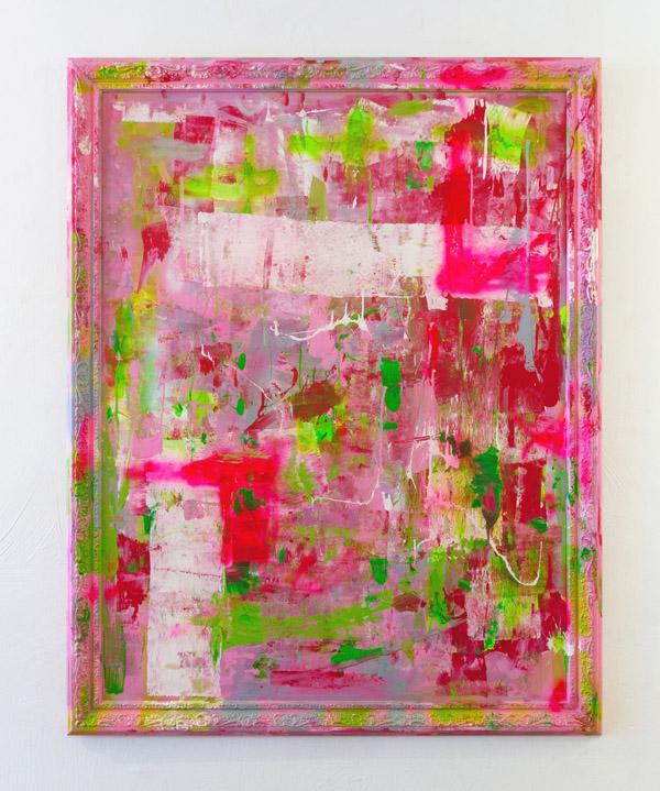 Tableau contemporain abstrait coloré Garden Party