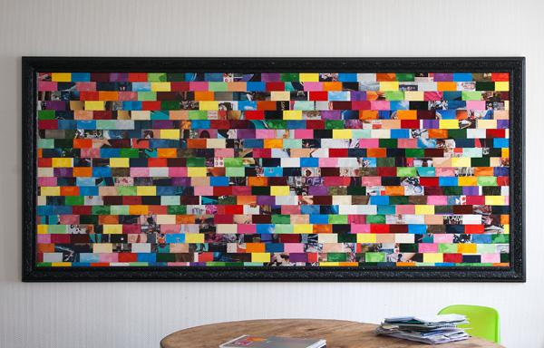 Tableau contemporain abstrait coloré 527 Pixels