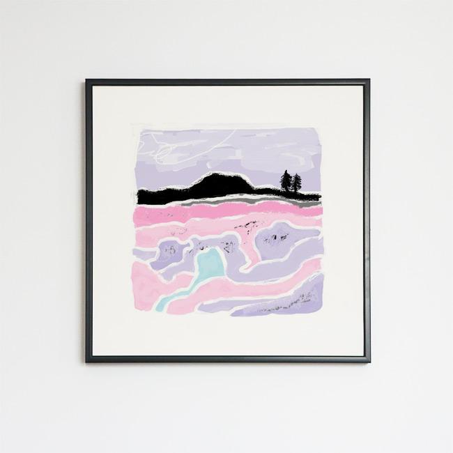 Tableau contemporain abstrait coloré Horizon and fir