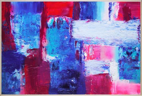 Tableau contemporain abstrait coloré R&B
