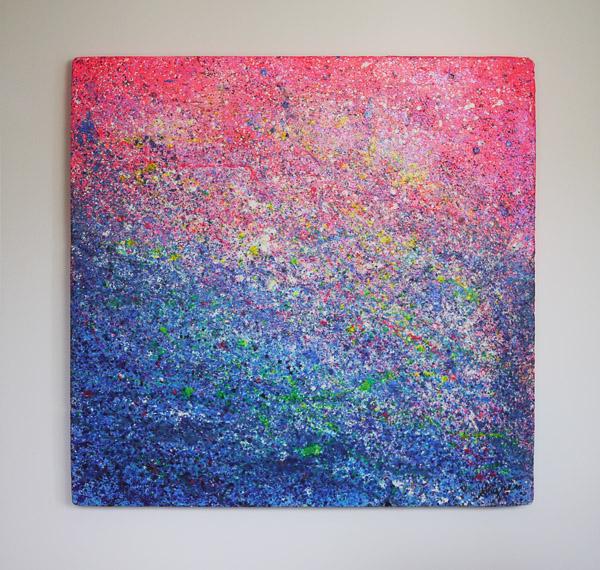 Tableau contemporain abstrait coloré Styrène R & B