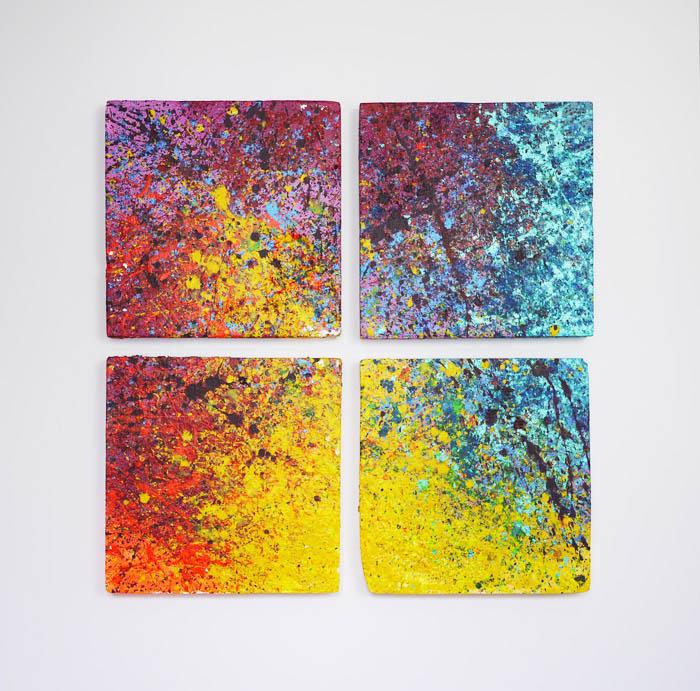 Tableau contemporain abstrait coloré Hysteria