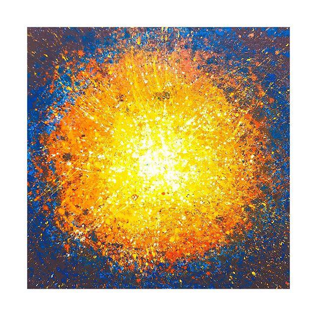 Tableau contemporain abstrait coloré Baoum